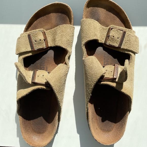 Birkenstocks Leather Taupe Size 10 Women's